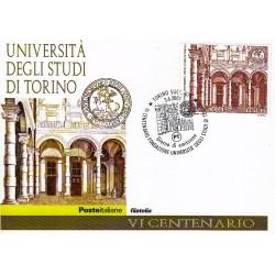 FDC ITALIA 2004 Cartolina Poste Italiane Unif. 2806 Università di Torino