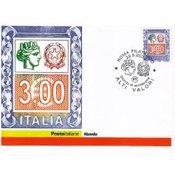 FDC ITALIA 2004 Cartolina Poste Italiane Unif. 2803 Alti Valori € 3.00