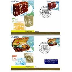 FDC ITALIA 2004 Cartolina Poste Italiane Unif. 2798/9 Europa