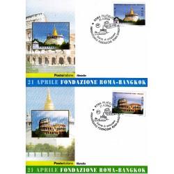 FDC ITALIA 2004 Cartolina Poste Italiane Unif. 2795/6 Roma Bangkok