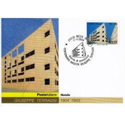 FDC ITALIA 2004 Cartolina Poste Italiane Unif. 2794 Giuseppe Terragni