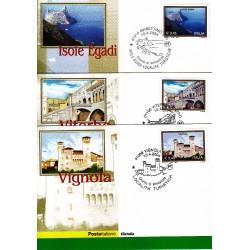 FDC ITALIA 2004 Cartolina Poste Italiane Unif. 2791/3 Propaganda Turistica