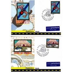 FDC ITALIA 2004 Cartolina Poste Italiane Unif. 2789/90 Sicurezza Stradale