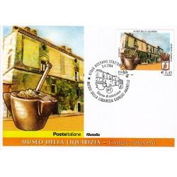 FDC ITALIA 2004 Cartolina Poste Italiane Unif. 2787 Museo Liquirizia