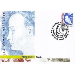 FDC ITALIA 2004 Cartolina Poste Italiane Unif. 2786 Donna D'Arte € 0.65