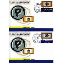 FDC ITALIA 2004 Cartolina Poste Italiane Unif. 2784/5 Posta Prioritaria 0,80 - 1,50
