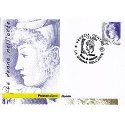 FDC ITALIA 2004 Cartolina Poste Italiane Unif. 2778 Donne D'Arte € 0.85