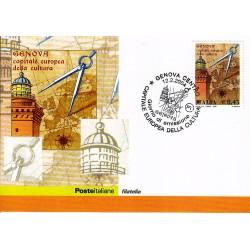 FDC ITALIA 2004 Cartolina Poste Italiane Unif. 2777 Genova Capitale Europea Cultura