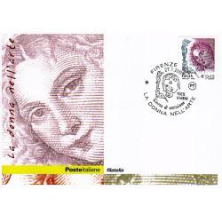 FDC ITALIA 2004 Cartolina Poste Italiane Unif. 2775 Donne D'Arte € 0.45