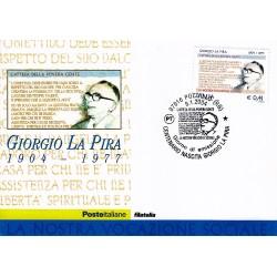 FDC ITALIA 2004 Cartolina Poste Italiane Unif. 2773 Giorgio La Pira
