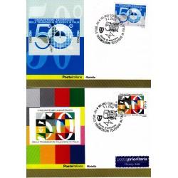 FDC ITALIA 2004 Cartolina Poste Italiane Unif. 2771/2 Trasmissione Televisive