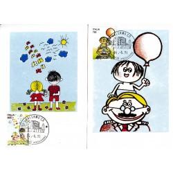 FDC ITALIA 1991 Cartolina Roma Unif. 1989/0 Diritti all'infanzia A/PA