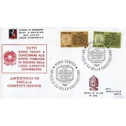 FDC ITALIA 1977 Grolla Club Unif. 1368/9 Propaganda Fedeltà Contributiva