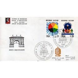 FDC ITALIA 1977 Grolla Club Unif. 1366/7 Missionari Salesiani APG