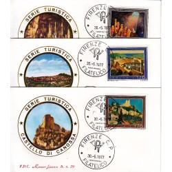FDC ITALIA 1977 Roma Luxor Unif. 1372/4 Propaganda Turistica A/FI