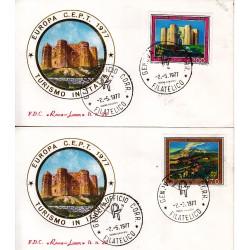 FDC ITALIA 1977 Roma Luxor Unif. 1370/1 Europa CEPT A/GE