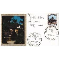 FDC ITALIA 1977 Filagrano Gold Unif. 1388 Fontane D'Italia A/Caserta viaggiata