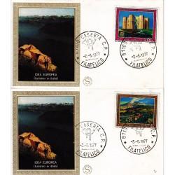 FDC ITALIA 1977 Filagrano Gold Unif. 1370/1 Europa CEPT A/Caserta