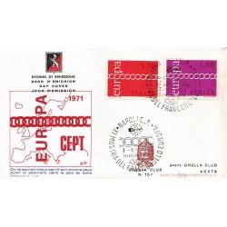 FDC ITALIA 1971 Grolla Club Unif. 1147/8 Europa CEPT A/Speciale
