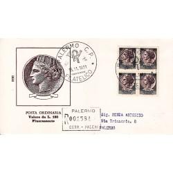 FDC ITALIA 1971 Rodia Unif. 1160 Siracusana A/PA Quartina viagg.