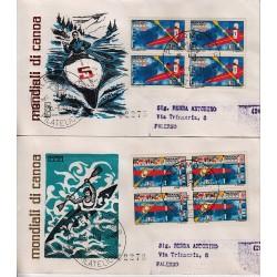 FDC ITALIA 1971 Rodia Unif. 1151/52 Mondiali di Canoa A/PA Quartina