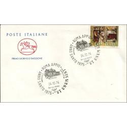 FDC ITALIA Marcofilia Annullo speciale 24/12/1974 Roma Appia Anno Santo