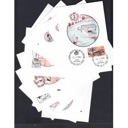 MARCOFILIA ANNULLO SPECIALE 15/08/1960 XVII Giochi Olimpici giro completo 30 cartoline