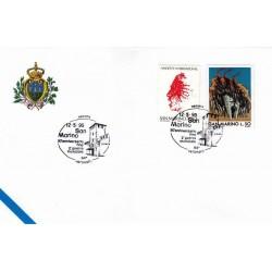 FDC SAN MARINO Marcofilia Annullo Speciale 12/05/1995 2° Guerra Mondiale