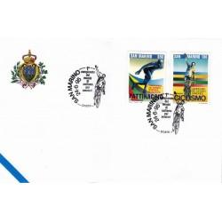FDC SAN MARINO Marcofilia Annullo Speciale 24/06/1995 ciclismo per amatori