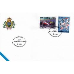 FDC SAN MARINO Marcofilia Annullo Speciale 09/09/1995 ferrari sul titanio quattro
