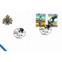 FDC SAN MARINO Marcofilia Annullo Speciale 19/09/1995 coppa placci