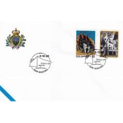 FDC SAN MARINO Marcofilia Annullo Speciale 06/10/1995 alvaro siza MOSTRA di ARCHITETTURA