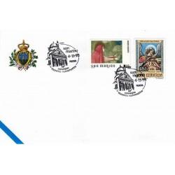 FDC SAN MARINO Marcofilia Annullo Speciale 04/11/1995 PADOVA convegno filatelico numismatico