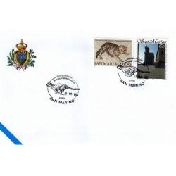 FDC SAN MARINO Marcofilia Annullo Speciale 06/11/1995 servizi postacelere