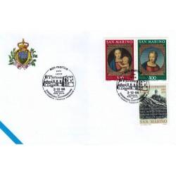 FDC SAN MARINO Marcofilia Annullo Speciale 02/12/1995 XXII mostra filatelica salentina