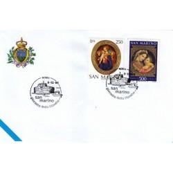 FDC SAN MARINO Marcofilia Annullo Speciale 09/12/1995 giornata della filatelia