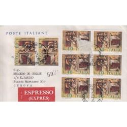 FDC ITALIA 1974 Poste Italiane Cavallino Unif. 1276 Natale raccomandata