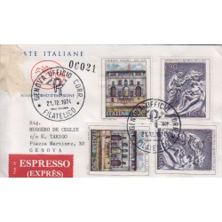 FDC ITALIA 1974 Poste Italiane Cavallino Unif. 1282/83 Arte Italiana raccomandata