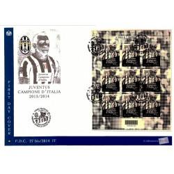 FDC ITALIA 27bis/2014 Unif. 3562 Juventus 2014 Foglietto in bustone