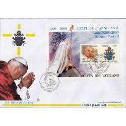 FDC VATICANO 2000 Filagrano Unif. 1203 I Papi e gli anni Santi Giovanni Paolo II - bustone