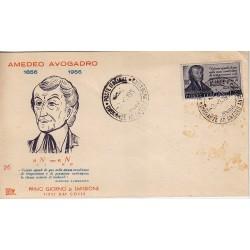 FDC ITALIA 1956 Roma Unif. 802 Amedeo Avogadro Annullo Speciale Vercelli