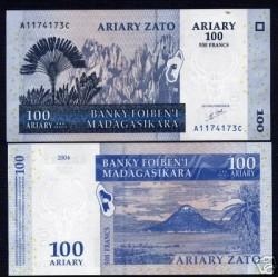 UNICA BANCONOTA MADAGASCAR  ARIARY  100 FDC