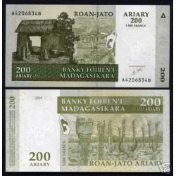 UNICA BANCONOTA MADAGASCAR  ARIARY  200 FDC