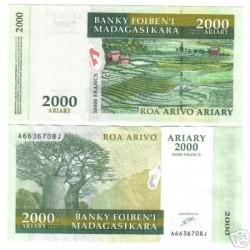 UNICA BANCONOTA MADAGASCAR  ARIARY  2000 FDC