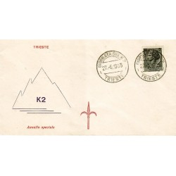 MARCOFILIA ANNULLO SPECIALE Italia 27/06/1955 Giornata del K2