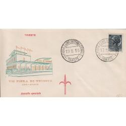 MARCOFILIA ANNULLO SPECIALE 19/06/1955 VII Fiera Camp. Internazionale Trieste