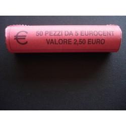 ROTOLINO 5 CENTESIMI DEL 2007 DA 50 MONETE FDC