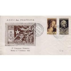 MARCOFILIA ANNULLO SPECIALE 05/02/1955 X Convegno Filatelico Nazionale