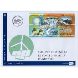 FDC ITALIA 3/2014 Unif. 3519/24 Energie Rinnovabili AF/Venaria Reale