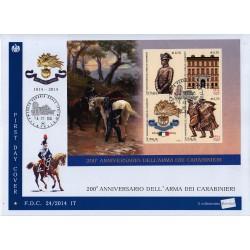 FDC ITALIA 24/2014 Unif. 3552/55 Arma Dei Carabinieri AF/Venaria Reale